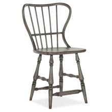 Ciao Bella Spindle Back Counter Stool-Speckled Gray