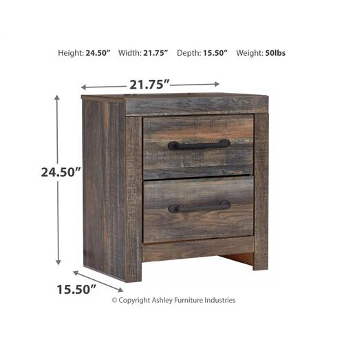 Queen Panel Bed With 2 Nightstands