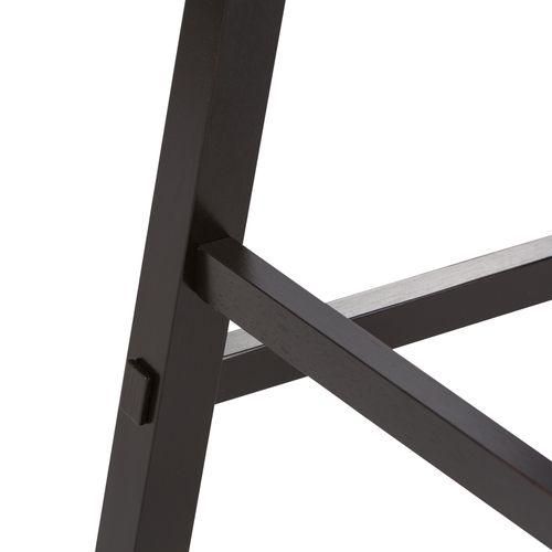30 Inch Sawhorse Barstool - Black (RTA)