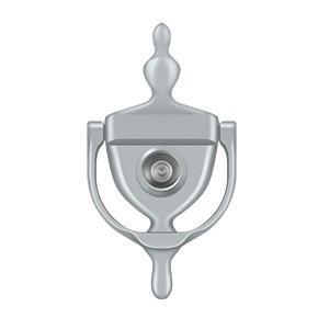 Deltana - Door Knocker-Viewer - Brushed Chrome