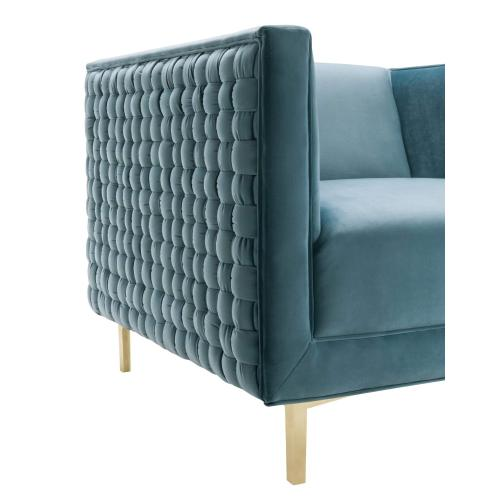 Sal Sea Blue Woven Chair