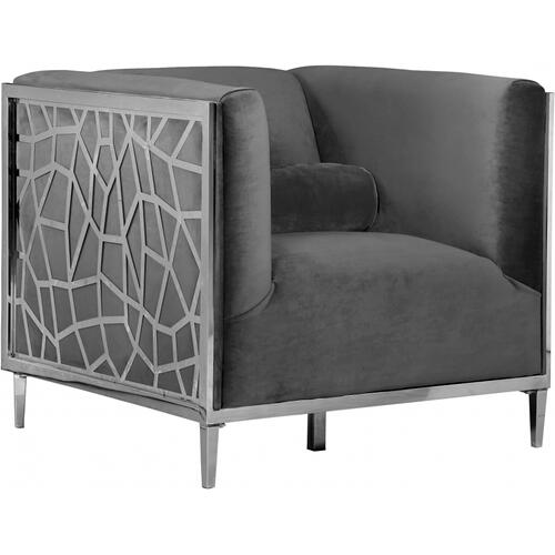 "Opal Velvet Chair - 35"" W x 33.5"" D x 30.5"" H"