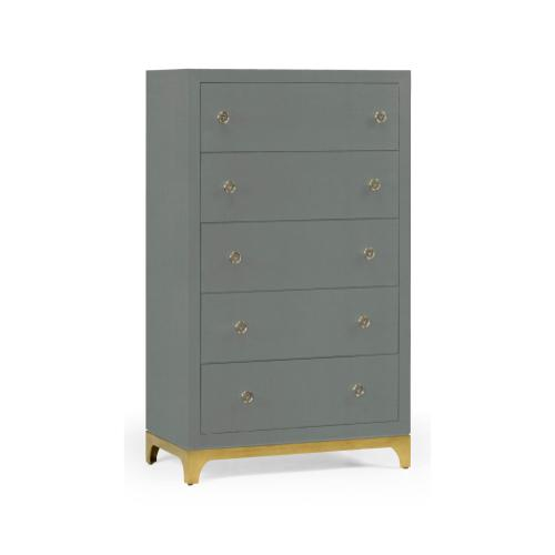 Tall chest with blazer buttons (Flannel/Gold)
