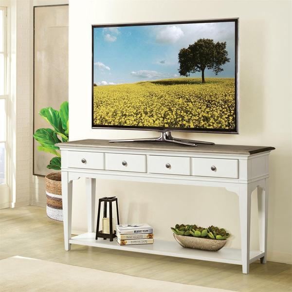See Details - Myra - Sofa Table - Natural/paperwhite Finish