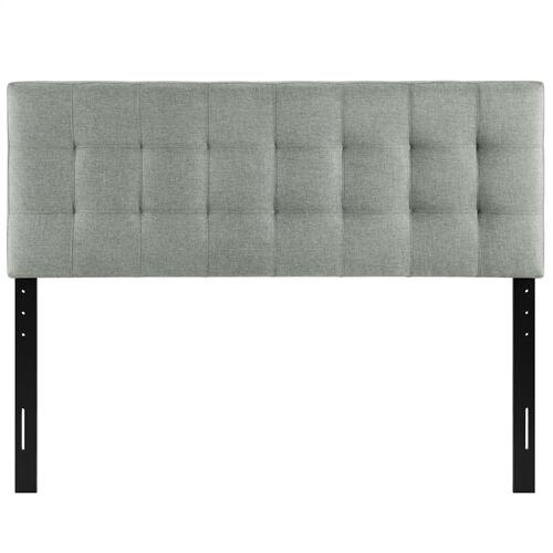 Modway - Lily Queen Upholstered Fabric Headboard in Gray
