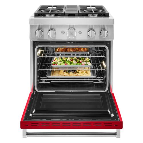 Gallery - KitchenAid® 30'' Smart Commercial-Style Dual Fuel Range with 4 Burners - Passion Red