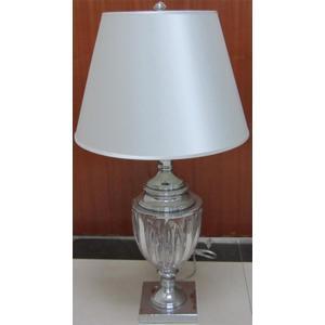 Table Lamp, Chrome/fabric Shade, E27 Type A 100w