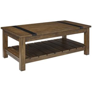 Nelson Distressed Brown Coffee Table