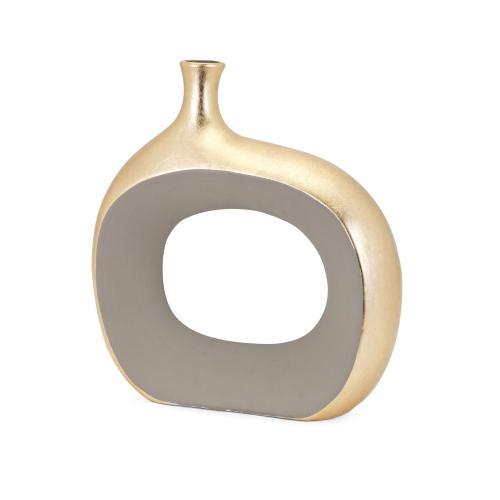 Imax Corporation - Maddy Small Metallic Vase