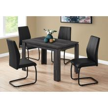 """DINING CHAIR - 2PCS / 39""""H / BLACK LEATHER-LOOK / METAL"""