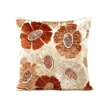 Taupe Velvet Ground Pillow