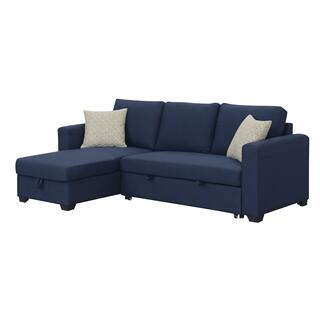 See Details - Langley Sectional with Storage Chaise