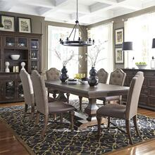 7 Piece Double Pedestal Table Set