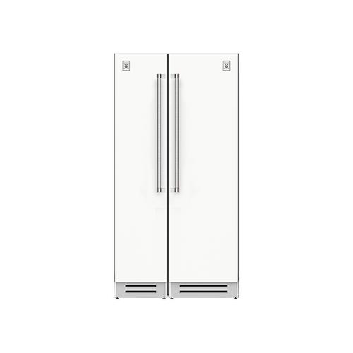 "Hestan - 42"" Column Freezer (L) and Refrigerator ® Ensemble Refrigeration Suite - Froth"