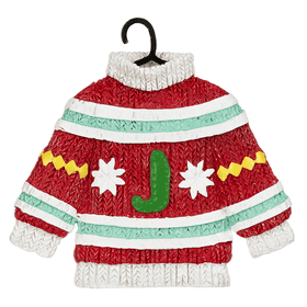 Sweater Ornament - J