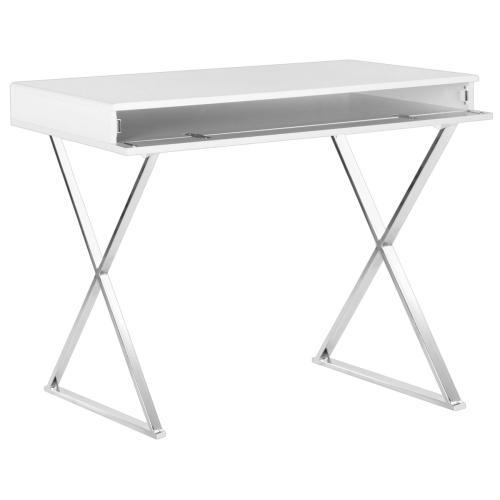 Gordon Desk - White / Chrome