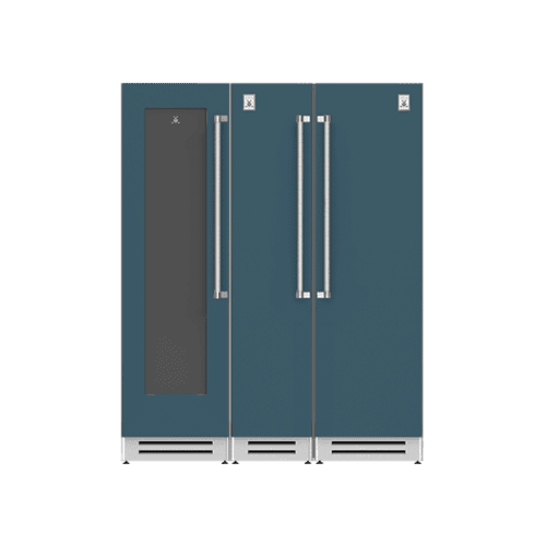 "Hestan - 66"" Wine Cellar (L), Column Freezer and Refrigerator ® Ensemble Refrigeration Suite - Pacific-fog"