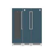 "66"" Wine Cellar (L), Column Freezer and Refrigerator ® Ensemble Refrigeration Suite - Pacific-fog"