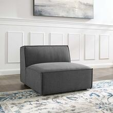 Restore Sectional Sofa Armless Chair in Charcoal