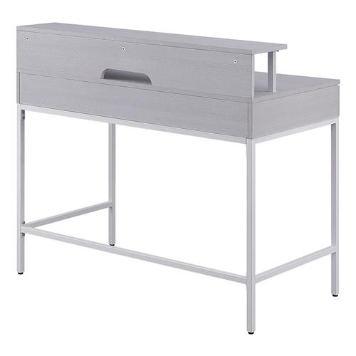 "Contempo 40"" Desk With 2 Drawers and Shelf Hutch"