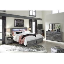 View Product - King Panel Bed With 2 Storage Drawers With Dresser