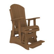 See Details - 2 Adirondack Balcony Glider Chair, Antique-mahogany