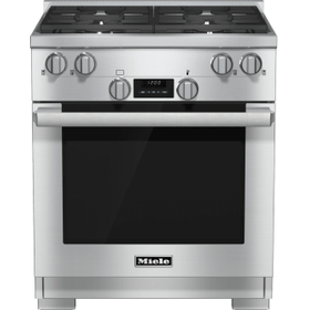 30 inch range Dual Fuel model with DirectSelect controls.