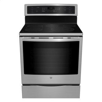 GE Profile Freestanding Self-Clean Induction Range with Convection Stainless Steel - PCHB920YMFS