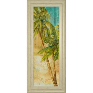 """Beach Palm Panel 1"" By Patricia Pinto Framed Print Wall Art"