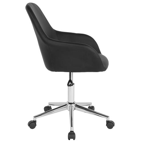 Gallery - Cortana Home and Office Mid-Back Chair in Black LeatherSoft