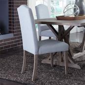 Upholstered Side Chair - Light Aqua (RTA)