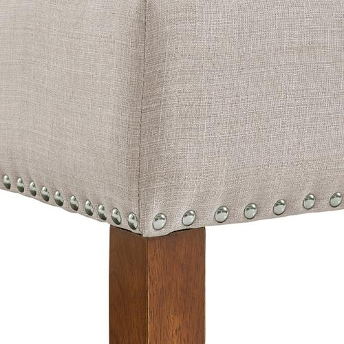 Accentrics Home - Beige Hinged Top Button Tufted Storage Bed Bench