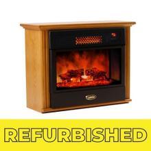 View Product - Refurbished Original SUNHEAT Infrared Fireplace - Golden Oak