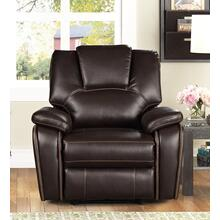 8088 DARK BROWN Power Recliner Air Leather Recliner