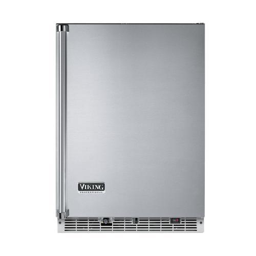 "Viking - Stainless Steel 24"" Beverage Center with Ice Maker - VURI (Right Hinge Door)"