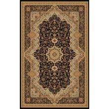 "Persian Design 1 Million Point Heatset Monalisa T06 Area Rugs by Rug Factory Plus - 7'6"" x 10'3"" / Black"