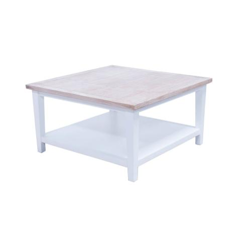Capris Furniture - Cocktail Table, Available in White Teak Finish.