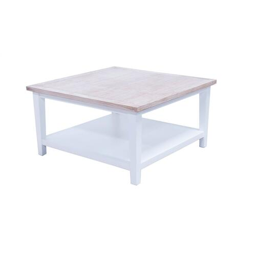Cocktail Table, Available in White Teak Finish.