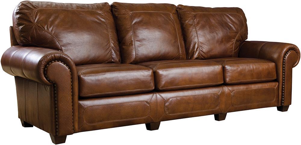 Stickley Furniture100 Sofa, Leather Santa Fe Sofa