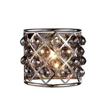 Madison 1 light Polished Nickel Wall Sconce Silver Shade (Grey) Royal Cut Crystal