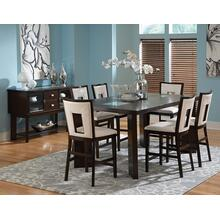 Delano 7 Piece Counter Set(Counter Table & 6 Counter Chairs)
