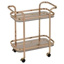 Zedd 2-Tier Bar Cart in Gold