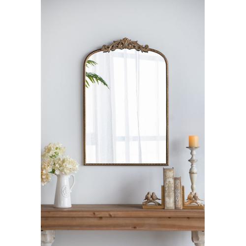 A & B Home - Gold Mirror