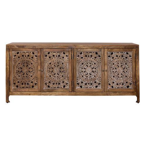 Liberty Furniture Industries - 74 Inch 4 Door Accent TV Stand
