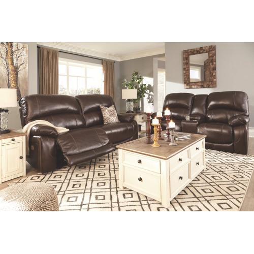 Hallstrung 2 Seat Reclining Power Sofa & Loveseat W/Adj Hdrst Chocolate
