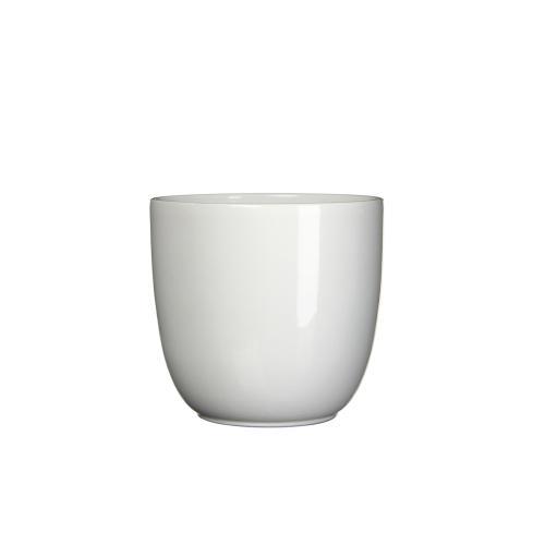 Tusca Round Planter Gloss White (min.18pcs)