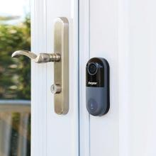 Smart 1080p Video Doorbell with Camera Streaming, Wireless Door Chime, and Optional Cloud-Based Storage