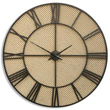 OPEN CANE  35in ht X 35in w X 2in d  Roman Numeral Metal Wall Clock