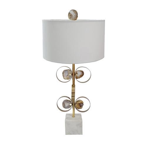 A & B Home - Agate Table Lamp