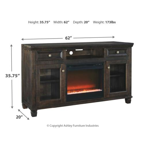 "Townser 62"" TV Stand With Electric Fireplace"
